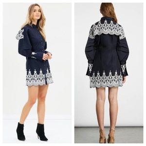 REVOLVE ELLIATT Bridges Embroidered Shirt Dress